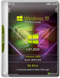 Windows 10 1909 (18362.959) 86x64 Pro (2in1) by Brux v.07.2020